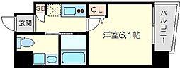 Live Casa上新庄 9階1Kの間取り