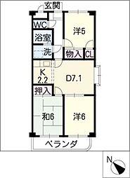 Comfort東山[2階]の間取り