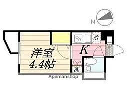JR総武線 東中野駅 徒歩8分の賃貸マンション 3階1Kの間取り