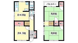 [一戸建] 大阪府豊中市夕日丘3丁目 の賃貸【/】の間取り