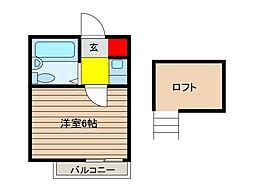 ブライズ7[1階]の間取り