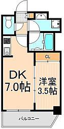 Comfortable柳橋(カンファタブルヤナギバシ)[9階]の間取り