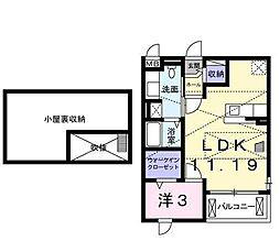クレセント茨木[2階]の間取り