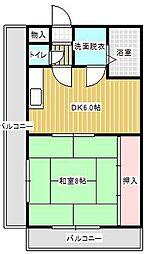 コーポ西明石7[3階]の間取り