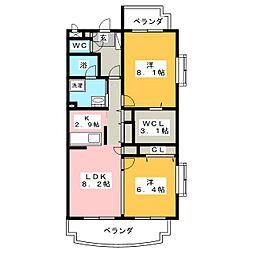 ライフォート エクステージ[3階]の間取り