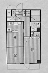 コートハイム横浜[208号室]の間取り