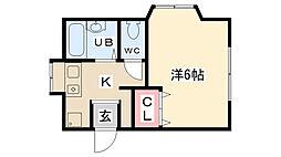 ステップハウス[202号室]の間取り