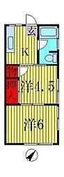 新井マンション[303号室]の間取り