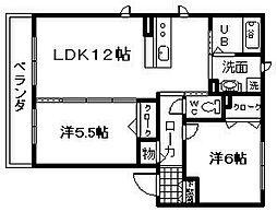 シャーメゾン セルクル 2[1階]の間取り