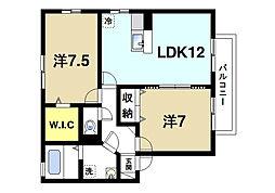 リビングタウン学研都市J[2階]の間取り