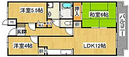 GreenVilla Goryo[5階]の間取り