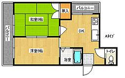 レジデンス近藤[2階]の間取り