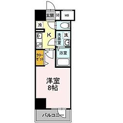 D-room早稲田[8階]の間取り