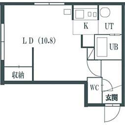 アーバンクラスタ新札幌III[202号室]の間取り