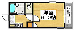 プレステージ堺市壱番館[2階]の間取り