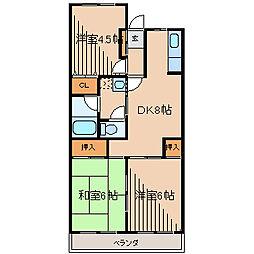 サンヒルマンション[2階]の間取り