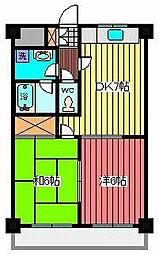 ニュークレスト上青木2[2階]の間取り