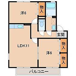 シンフォニーI[2階]の間取り