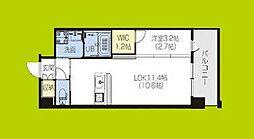 PHOENIX Clove Tomoi 7階1Kの間取り