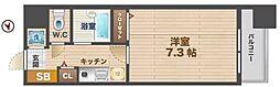 東京都中野区本町1丁目の賃貸マンションの間取り
