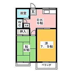 コーポ松尾[2階]の間取り