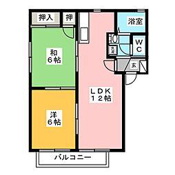 プレミール2000 F棟[2階]の間取り