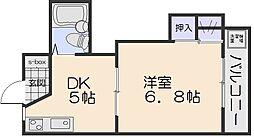 コーポカワモト[1階]の間取り