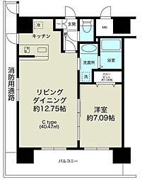 ノルデンタワー新大阪プレミアム[13階]の間取り