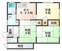 [一戸建] 岡山県岡山市南区福成3丁目 の賃貸【/】の間取り