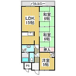 Jステージ若草[9階]の間取り
