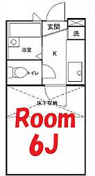 神奈川県横浜市神奈川区台町の賃貸アパートの間取り