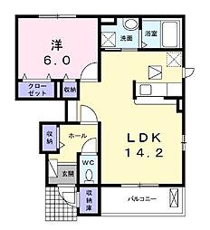 コンフィアンスII[1階]の間取り