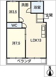 新須磨ハイツ[3階]の間取り