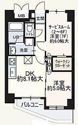フェビエンローズ[5階]の間取り