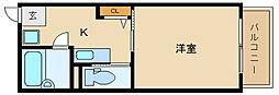 大阪府富田林市錦織東2丁目の賃貸アパートの間取り