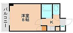 福岡県福岡市東区箱崎7丁目の賃貸マンションの間取り