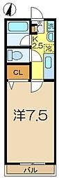 グレイス港南中央[1階]の間取り