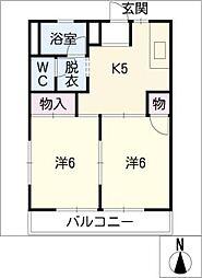 コーポ望[1階]の間取り