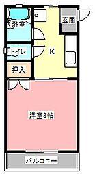 静岡県浜松市中区上島7の賃貸アパートの間取り