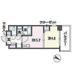 ブランオールB館[8階]の間取り