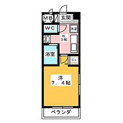 メゾンアンクレ[5階]の間取り
