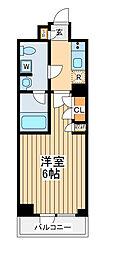 JR京浜東北・根岸線 川崎駅 徒歩8分の賃貸マンション 7階1Kの間取り