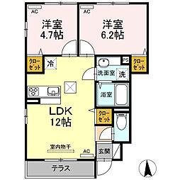 (仮)D-room浮間4[101号室]の間取り