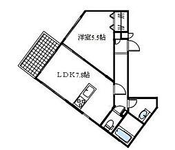 ヒルズ七隈駅[3階]の間取り