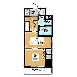 パークアクシス横濱大通り公園 3階1DKの間取り