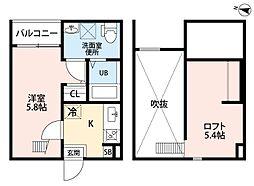 (仮称)小幡南2丁目アパートII[105号室]の間取り