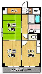 メゾンミチヨ[5階]の間取り