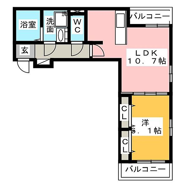 ファー ビヨンドIII[1階]の間取り