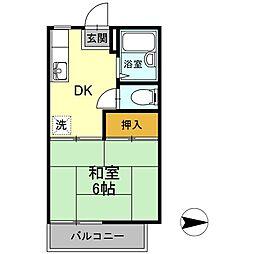 コーポDAIGAKU[201号室]の間取り