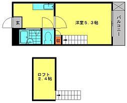 メルティングホーム[202号室]の間取り